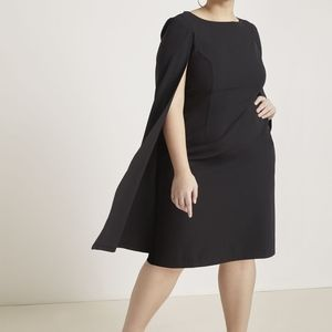 BOGO Eloquii Studio Black Tailored Cape Dress